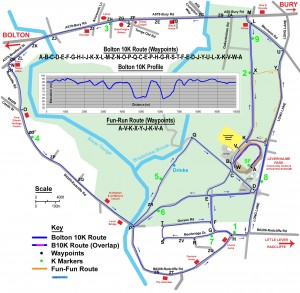 B10K Route 2011 Map