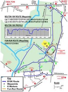 Bolton 10K Route